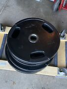 Iron Grip, Gp And Gpi Rubber 45 Pound Weight Plates 9 Total