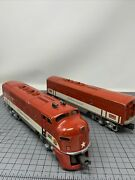 Vintage Lionel 2245 Texas Special A Powered Engine And Dummy B Unit Clean Inside