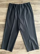 Eileen Fisher Viscose Blend Tapered Cropped Pants Black Womens Plus Size 3x Xxxl
