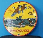 Vintage Winchester Porcelain The Perfect Pattern Hunting Shot Gun Shells Sign