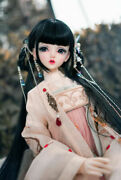 Antique Girl Wig For1/3 1/4 Bjd Sd Mdd Doll 1/6 Yosd Hair Wig Cosplay Black Pink