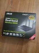 Asus Rt-n66u Dual-band Wireless-n900 Gigabit Router 2.4 And 5 Ghz 450mbps