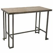 Lumisource Roman Bar Stool Table In Antique And Brown Finish Ct-rmn An+bn