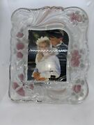 Vintage Mikasa Victorian Frosted Rose Picture Frame 15x12 For 6 X 8 Photo