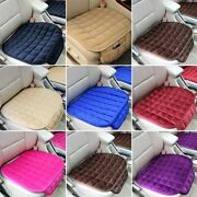 Breathable Car Front Seat Cover Plush Interiors Travel Cushion Driving Non-slip