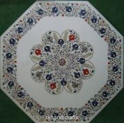 36 Inches Marble Living Room Table Top Hand Inlaid Elegant Look Dining Table Top
