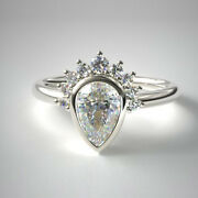 Excellent Cut 0.76 Ct Real Diamond Engagement Ring Solid 950 Platinum 7 8 6 5 4