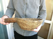 Old Antique Primitive 18's Hand-hewn Wooden Rustic Plate Meal Bowl Dish Cup Mug