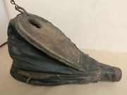 22 Antique 1800's French Bellows Scarce Collectible Old Blacksmith Forge Tool