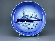 Swedish Marine Porcelain Collectible Plate Gripsholm 1977 Bing And Grondahl