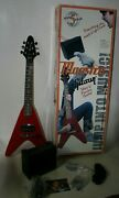 Gibson Maestro Mini V Electric Guitar W Amp Strap Cord And Case Red