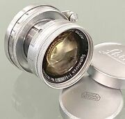 Leitz 2/5cm Summicron Yellow Coating A Very Clean For Leica Screw Mount