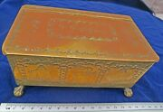 Rare Georgian Antique Candle Box Ashbey Victorian Pictorial Brass