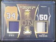 Shaquille O'neal And David Robinson 2020 Leaf In The Game Used Sport  1/1