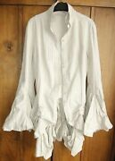 Iconic All Saints Harley Victorian Steampunk Shirt Bustle Dress Uk10 Rrp Andpound298