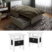 Twin Size Modern Bedroom Set Furniture White 3 Piece New Nightstand Leather Bed