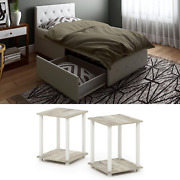 White Bedroom Set Furniture Modern Twin Size Bedside Table New Leather 3 Piece