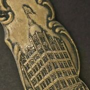C1900-05 7 1/4 Pacific Mutual Brass Advertising Letter Opener San Francisco