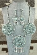 Turquoise And Sterling Silver Necklace Set - Merlinda Chavez