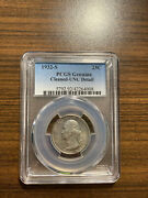 1932-s Washington Silver Quarter 25c Pcgs Genuine Cleaned Uncirculated Details