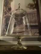 """Antique Empoli Verde General Store Glass Candy Jar Apothecary Display 16.5"""""""