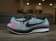 Nike Flyknit Racer 2.0 Multi Color Running Shoes Womens Size 9 / Mens 7.5