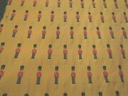 24 Yards Vintage Toy Soldiers Upholstery Drapery Fabric