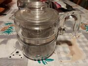 Vintage Pyrex Flameware 7754 Percolator Coffee Pot 2-4 Cup Made In Usa