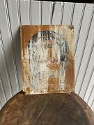 Antique Ahta Anti Horse Thief Sign Western Country Horseshoe Trade Ranch
