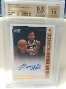 Donovan Mitchell 2017-18 Hoops Great Significance Rookie Gold Auto Bgs 9.5 /10