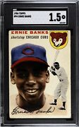 1954 Topps 94 Ernie Banks Rc Rookie Sgc 1.5 Cubs Mark On Back Comp To Bvg Psa