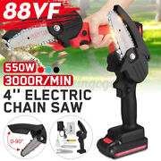 One-hand Electric Cordless Saw Woodworking Chainsaw Wood Cutter Rechargeable New