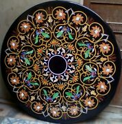 48 Inches Marble Hall Table Top Round Shape Dining Table Hand Crafted From India
