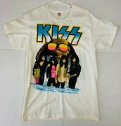 Vintage Kiss Band Concert T-shirt Hot In The Shade Tour Unworn Cities Version 1