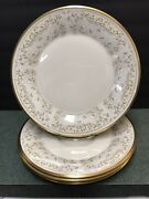 """4 Lenox China """"meadow Song"""" Dinner Plates"""