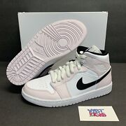 Jordan 1 Mid Barely Rose Women's Size Bq6472-500 Brand New In Hand 9w And 9.5w