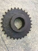 Antique Iron Sprocket Cog 28 Toothed Wheel Primitive Steam Punk Lamp What 7