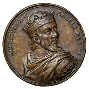England 1723 Kings And Queens Series Henry I Ae Medal By Dassier
