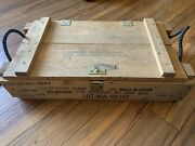 Vintage Military Wooden Ammo Crate Box Ammunition For Cannon M1 M29 Explosives