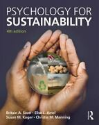 Psychology For Sustainability By Susan M. Koger, Elise L. Amel, Britain A....