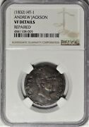 1832 Ht-1 Ngc Vf Details Andrew Jackson Political Campaign Hard Times Token