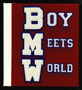 1997 Boy Meets World Leather Bound Letterman's Sweater 3-ring Binder Promo Rare