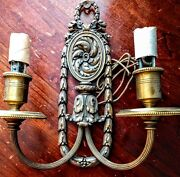 ⭐ 4 Four Matched Set E F Caldwell Wall Sconces French Design