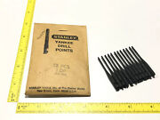 """Vtg Stanley Yankee Push Drill Points 12pc Nos 1/16"""" Bits No1 Dp Rare New Scarce"""