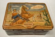 Vintage 1954 Gene Autry Melody Ranch Western Lunch Box And Thermos By Universal