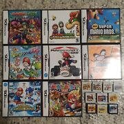 Nintend Ds 3ds Games Yoshis Bowser Mario Party Wario Ware Mario Kart And Many More