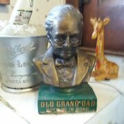 Rare Antique 1940s Old Grand Dad Head Of The Bourbon Whiskey Family Bar Bust