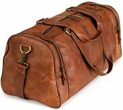 Berliner Bags Vintage Leather Duffle Bag Bergen For Travel Or The Gym, Overnight
