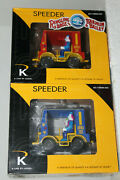 Lionel/k-line 22222 Ringling Bros. Clown Circus Speeder Chase Set Pow And Dumm