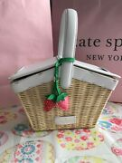 Kate Spade Picnic In The Park Wicker Basket Wkr00465 Natural
